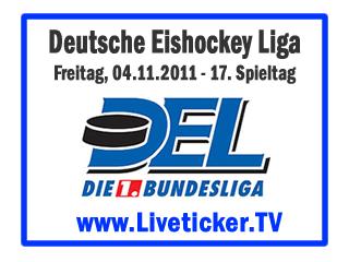 DEL – Saison 2011/12 - 17. Spieltag ERC Ingolstadt – Krefeld Pinguine Augsburger Panther – Kölner Haie EHC München – DEG Metro Stars Grizzly Adams Wolfsburg – Iserlohn Roosters Thomas Sabo Ice Tigers – Adler Mannheim