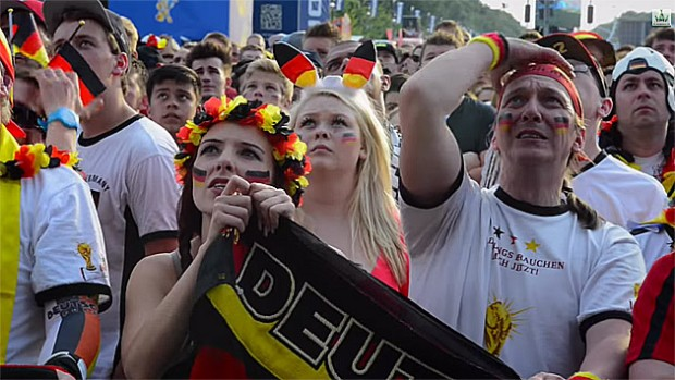 Empfang des Fußball-Weltmeisters live im ZDF