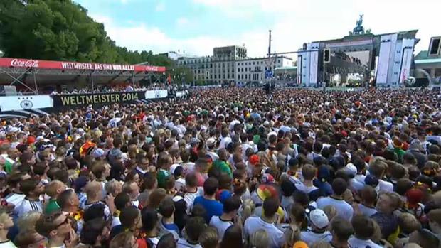 Die Rückkehr der Weltmeister nach Deutschland