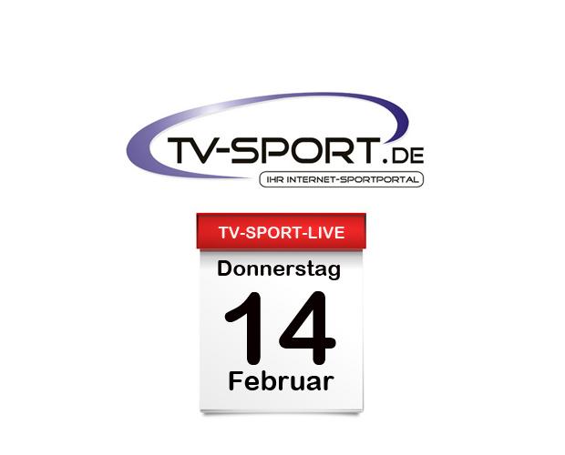 Das TV-Sport Tagesprogramm am Donnerstag, 14.02.2019