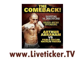 Boxen im Supermittelgewicht: Arthur Abraham vs. Pablo Oscar Farias