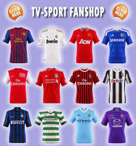 Fanshop, FC Barcelona, Real Madrid, Manchester United, Chelsea London, Arsenal London, FC Liverpool, AC Mailand, Juventus Turin, Inter Mailand, Celtic Glasgow, Manchester City, AC Florenz, Fanartikel