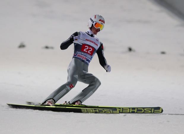 Quelle: Viessmann Werke: 29.12.2013, Oberstdorf, Germany (GER): Marinus Kraus (GER) - FIS world cup ski jumping, four hills tournament, individual HS137, Oberstdorf (GER). www.nordicfocus.com. Laiho/NordicFocus.
