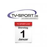 Das TV-Sport Tagesprogramm am Dienstag, 01.01.2019