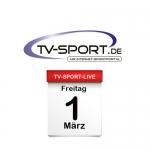 Das TV-Sport Tagesprogramm am Freitag, 01.03.2019