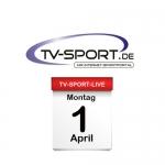 Das TV-Sport Tagesprogramm am Montag, 01.04.2019