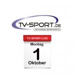 Das TV-Sport Tagesprogramm am Montag, 01.10.2018
