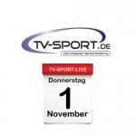 Das TV-Sport Tagesprogramm am Donnerstag, 01.11.2018