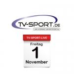 Das TV-Sport Tagesprogramm am Freitag, 01.11.2019