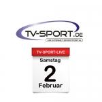Das TV-Sport Tagesprogramm am Samstag, 02.02.2019