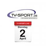 Das TV-Sport Tagesprogramm am Dienstag, 02.04.2019