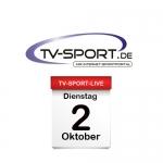 Das TV-Sport Tagesprogramm am Dienstag, 02.10.2018