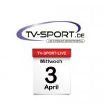 Das TV-Sport Tagesprogramm am Mittwoch, 03.04.2019