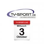 Das TV-Sport Tagesprogramm am Mittwoch, 03.10.2018