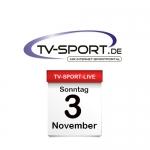 Das TV-Sport Tagesprogramm am Sonntag, 03.11.2019