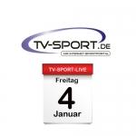 Das TV-Sport Tagesprogramm am Freitag, 04.01.2019
