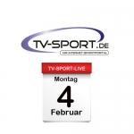 Das TV-Sport Tagesprogramm am Montag, 04.02.2019