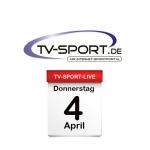 Das TV-Sport Tagesprogramm am Donnerstag, 04.04.2019