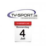 Das TV-Sport Tagesprogramm am Donnerstag, 04.07.2019