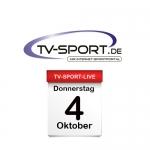 Das TV-Sport Tagesprogramm am Donnerstag, 04.10.2018