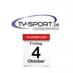 Das TV-Sport Tagesprogramm am Freitag, 04.10.2019