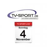 Das TV-Sport Tagesprogramm am Sonntag, 04.11.2018