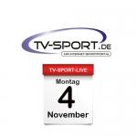 Das TV-Sport Tagesprogramm am Montag, 04.11.2019