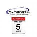 Das TV-Sport Tagesprogramm am Mittwoch, 05.06.2019