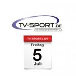 Das TV-Sport Tagesprogramm am Freitag, 05.07.2019