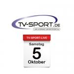 Das TV-Sport Tagesprogramm am Samstag, 05.10.2019