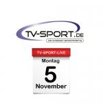 Das TV-Sport Tagesprogramm am Montag, 05.11.2018