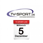 Das TV-Sport Tagesprogramm am Mittwoch, 05.12.2018