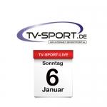Das TV-Sport Tagesprogramm am Sonntag, 06.01.2019