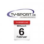 Das TV-Sport Tagesprogramm am Mittwoch, 06.02.2019