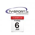 Das TV-Sport Tagesprogramm am Freitag, 06.07.2018