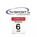 Das TV-Sport Tagesprogramm am Samstag, 06.07.2019
