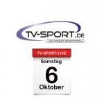 Das TV-Sport Tagesprogramm am Samstag, 06.10.2018