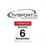 Das TV-Sport Tagesprogramm am Dienstag, 06.11.2018