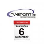 Das TV-Sport Tagesprogramm am Donnerstag, 06.12.2018