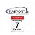Das TV-Sport Tagesprogramm am Donnerstag, 07.02.2019