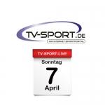 Das TV-Sport Tagesprogramm am Sonntag, 07.04.2019