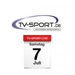 Das TV-Sport Tagesprogramm am Samstag, 07.07.2018