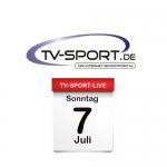 Das TV-Sport Tagesprogramm am Sonntag, 07.07.2019