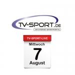Das TV-Sport Tagesprogramm am Mittwoch, 07.08.2019