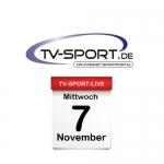 Das TV-Sport Tagesprogramm am Mittwoch, 07.11.2018