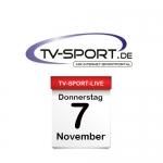 Das TV-Sport Tagesprogramm am Donnerstag, 07.11.2019