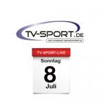 Das TV-Sport Tagesprogramm am Sonntag, 08.07.2018
