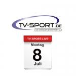 Das TV-Sport Tagesprogramm am Montag, 08.07.2019