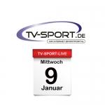 Das TV-Sport Tagesprogramm am Mittwoch, 09.01.2019