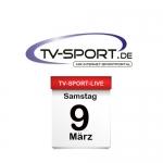 Das TV-Sport Tagesprogramm am Samstag, 09.03.2019